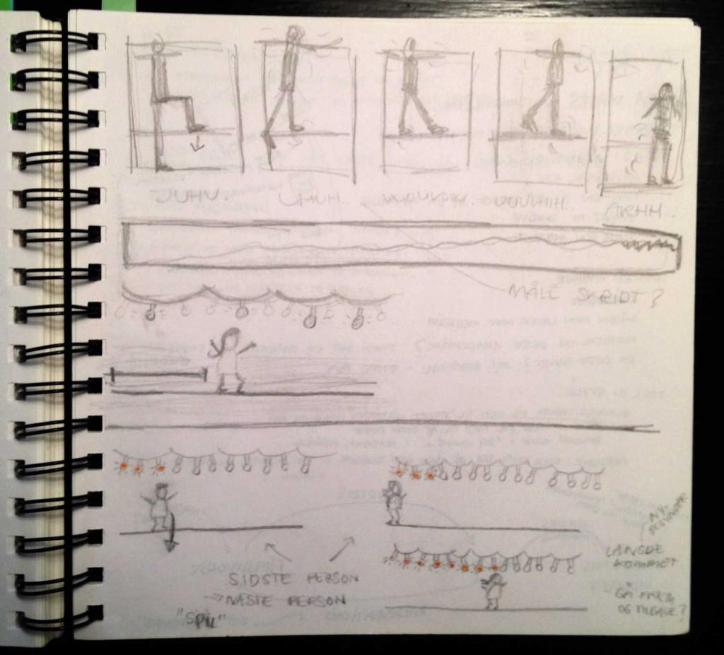 Sketching-slackline